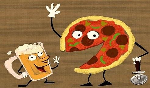 beer n pizza night