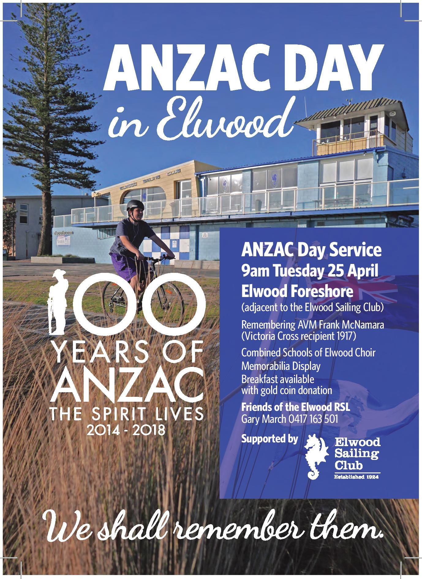 Anzac Day Service Elwood Sailing Clubelwood Sailing Club